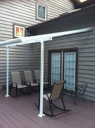 Palram Awning Palram Feria 10 Ft X 24 Ft White Patio Cover Awning Whites