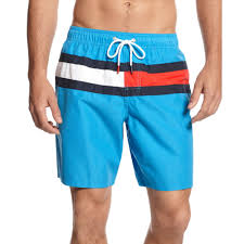 Mens Flag Shorts Lyst Tommy Hilfiger Flag It Swim Trunks In Blue For Men