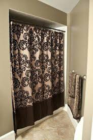 Brown Gold Curtains Shower Curtains Brown Damask Shower Curtain 1 Shower Curtains