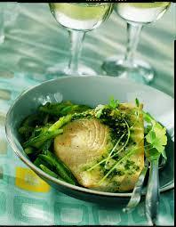 recette cuisine vapeur recette espadon au jus de persil courgettes vapeur