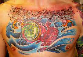 clover heart chest piece tattoo design tattoos book 65 000