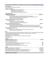 Free Resume Templates For Word 2010 Sample Talent Resume Sample Actor Resume Child My Hollywood Star