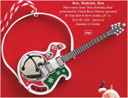 hooked on hallmark run rudolph run and hallmark guitar ornaments