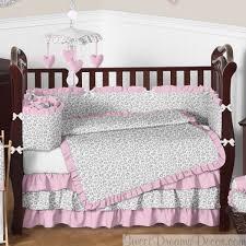 Cheetah Print Crib Bedding Set Kenya Pink And Gray Baby S Animal Print Crib Bedding Set
