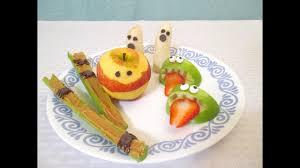 four healthy halloween snacks ghosts spiders monsters mummies
