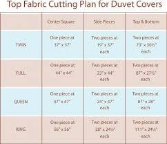 duvet cover measurements size chart