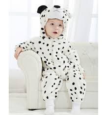 Leopard Halloween Costume Kids Double Snow Leopard Romper N6270