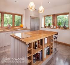 oak kitchen island units solid wood kitchen cabinets image gallery