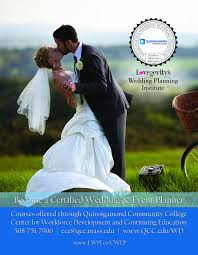 certified wedding planner become a certified wedding and event planner quinsigamond