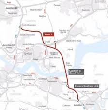 thames river running routes route for new thames crossing announced your thurrock