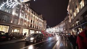london dec 19 christmas lights display on regent street on dec