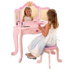 Disney Princess Vanity And Stool Kidkraft Princess Vanity U0026 Stool Walmart Com