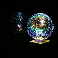 6w e27 led 3d light bulb 85v 265v creative colorful decorative