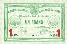 chambre de commerce boulogne banknotes emergency notes boulogne sur mer 62 chambre de