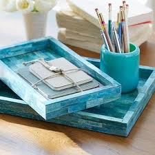aqua blue desk accessories gold anchor desk accessories products bookmarks design