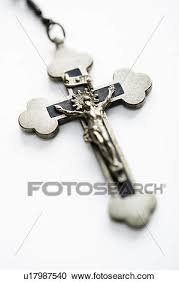 rosary crucifix stock photography of christian rosary crucifix on white background