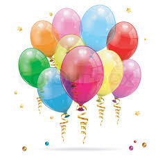 birthday balloons birthday balloons stock vector colourbox