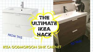 Ikea Hack Bathroom Vanity by The Ultimate Ikea Hack Bathroom Vanity Overhaul Youtube