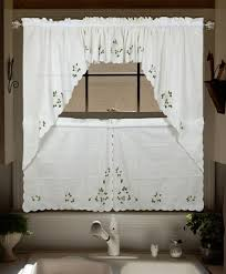 kitchen cafe curtains modern curtains modern kitchen curtain upscale lu embroidered valance