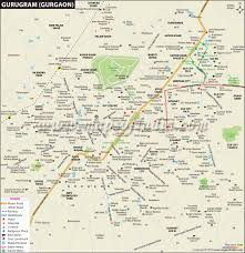 Gold Line Metro Map by Gurugram Gurgaon City Map