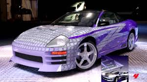 mitsubishi purple forza 4 my fast and furious cars eclipse eclipse spyder evo