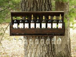 decorating amazing popular items for hanging pallet wine rack on tree
