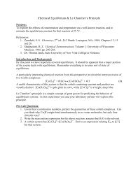 chemical equilibrium u0026 le chatelier u0027s principle