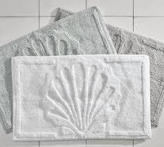 Seashell Bathroom Rugs Sculpted Cotton Bath Rug