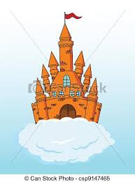 Castle On A Cloud Clipart Vector Of Castle Vector Illustration Of Castle On A