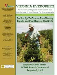 Fraser Christmas Tree Permit by Vctga Virginia Evergreen News Journal Summer 2016 By Jeff Miller