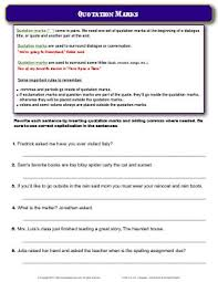 worksheet quotation marks rewrite each sentence by inserting