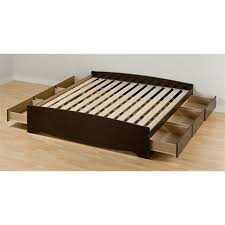 prepac furniture mate u0027s espresso king platform bed with storage