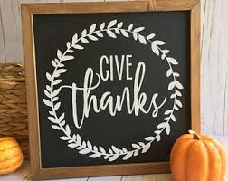 give thanks sign thankful sign thanksgiving sign fall