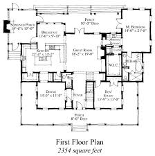house plans historic floor plan of country historic house plan 73854