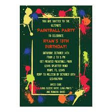 paintball birthday party invitation zazzle com