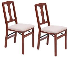 queen anne folding dining chairs 2pcs solid hardwood frame