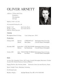Beginner Resume Template Actor Resume Sample Resume Cv Cover Letter