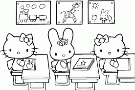 pages hello kitty and friends coloring sheet animal bad puppy