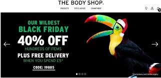 the body shop black friday how uk retailers are promoting black friday online econsultancy
