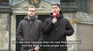 dutch pranksters bible verses koran
