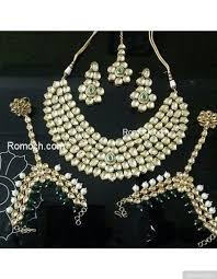 indian bridal necklace sets images Vilandi kundan emerald stone indian bridal necklace set jpg