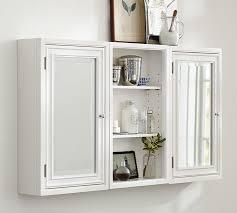 White Wall Bathroom Cabinet Modular Wall Storage Pottery Barn
