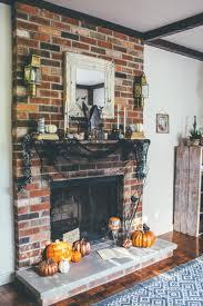 whimsical halloween fireplace mantel decor