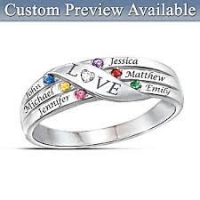 family birthstone rings womens ring holds our family together personalized diamond ring