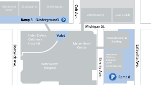 Michigan Campus Map by Directions And Parking Helen Devos Children U0027s Hospital