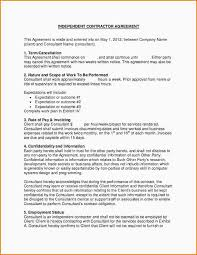 independent contractor agreement form contractor work agreement