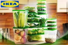 ikea food storage ikea pruta food container set of 17 transparent green lazada