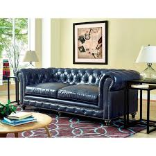 Blue Leather Sofa by Durango Rustic Blue Leather Sofa Free Shipping Today Overstock