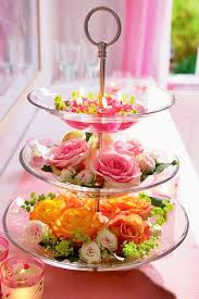 valentines day decorating ideas home flowers glass tiered stands