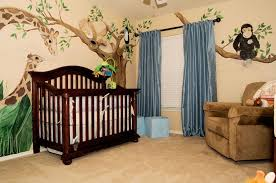 Jungle Curtains For Nursery Baby Room Beautiful Jungle Themed Baby Nursery Ideas With